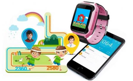 Ceas Smartwatch cu GPS pentru Copii, Smartic, Roz, Dreptunghiular, functie apeluri, localizare GPS, camera foto, zona de siguranta, buton SOS [3]