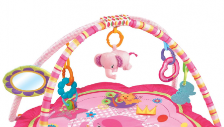 Centru activitati paturica cu perna si accesorii, pentru bebelusi, SMARTIC®, roz [1]