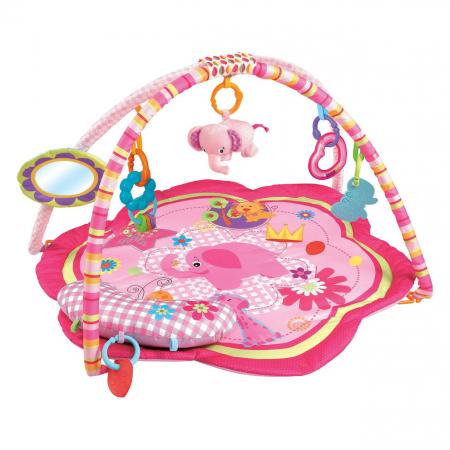 Centru activitati paturica cu perna si accesorii, pentru bebelusi, SMARTIC®, roz [0]