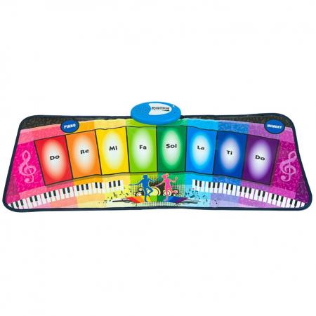 Covor muzical pian cu 8 taste, 2 programe si 8 melodii programate, 80x35 cm, SMARTIC®, multicolor0