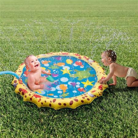 Covoras de joaca pentru copii,  Gonflabil, cu Stropi de Apa, Material PVC, SMARTIC®, 170 cm, multicolor2