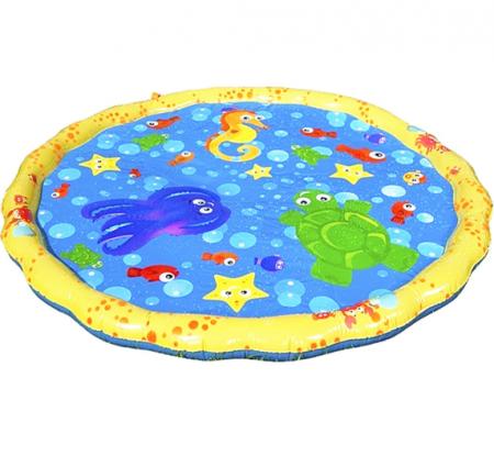 Covoras de joaca pentru copii,  Gonflabil, cu Stropi de Apa, Material PVC, SMARTIC®, 170 cm, multicolor0