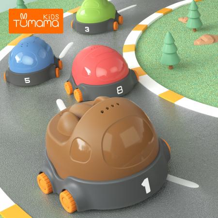 Covoras interactiv si educativ cu masinute, 68x68 cm, material plastic ABS, Tumama®, multicolor [4]