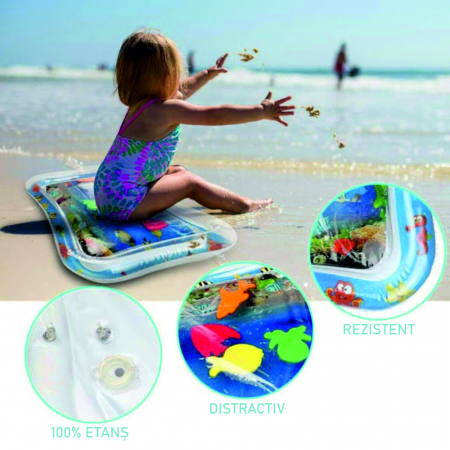 Covoras interactiv SMARTIC KID, jucarie interactiva cu apa, + 3 luni, 66x50cm, Animale Marine5