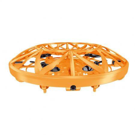 Drona disc jucarie, farfurie zburatoare, cu infrarosu si senzor, SMARTIC®, portocaliu0