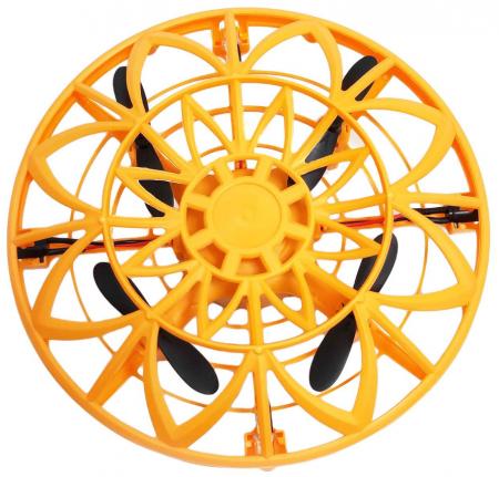 Drona disc jucarie, farfurie zburatoare, cu infrarosu si senzor, SMARTIC®, portocaliu1