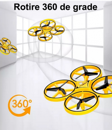 Drona Elicopter Inductie, Control prin gesturi, Rotire 360 grade, Leduri incorporate5