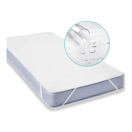 Husa Protectie Impermeabila pentru Saltea, Material Bumbac+Poliester, cu elastic, 120x60 cm, Smartic®, alb [1]
