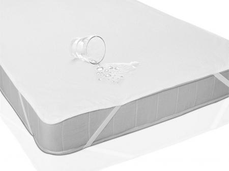 Husa Protectie Impermeabila pentru Saltea, Material Bumbac+Poliester, cu elastic, 140x70 cm, Smartic®, alb [3]