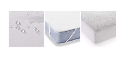 Husa Protectie Impermeabila pentru Saltea, Material Bumbac+Poliester, cu elastic, 140x70 cm, Smartic®, alb [5]