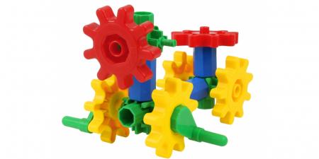 Joc educativ Korbo Dog18 Gandeste, Construieste, Roteste, de construit pentru copii1
