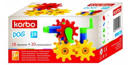 Joc educativ Korbo Dog18 Gandeste, Construieste, Roteste, de construit pentru copii2