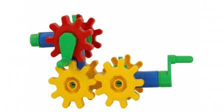 Joc educativ Korbo Dog18 Gandeste, Construieste, Roteste, de construit pentru copii0
