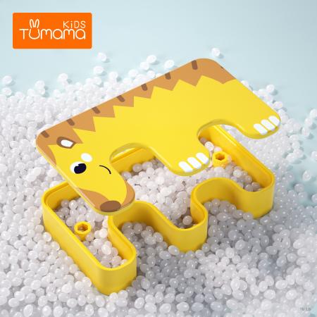 Joc Intercativ 15 piese cu Animale , Material Plastic, Varsta +3 ani, Tumama®, galben/alb/maro [4]