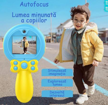Jucarie aparat foto pentru Copii, SMARTIC®, Magic Mirror, Albastru7