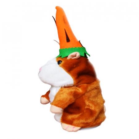 Jucarie Interactiva Copii Hamsterul Vorbitor, Editie de Paste, Maro2