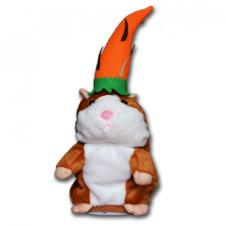 Jucarie Interactiva Copii Hamsterul Vorbitor, Editie de Paste, Maro3