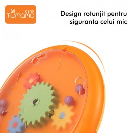 Jucarie educativa 2 in 1 Tumama® cu labirint si rotite colorate5