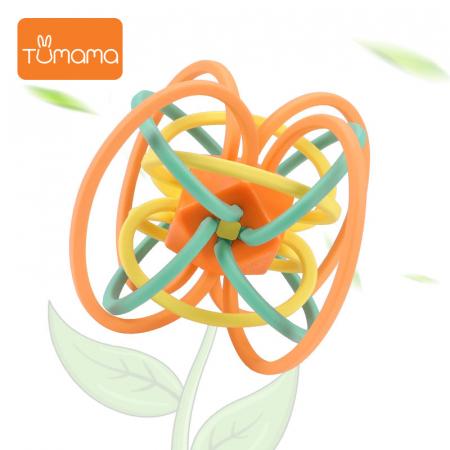 Jucarie Interactiva Educationala Zornaitoare pentru bebelusi, Design Labirint din Silicon, varsta + 3 luni, Tumama®, multicolor [3]