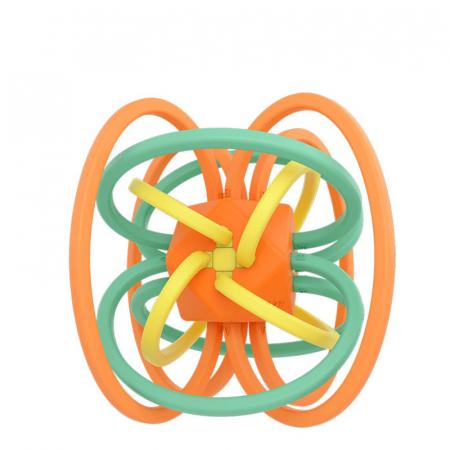 Jucarie Interactiva Educationala Zornaitoare pentru bebelusi, Design Labirint din Silicon, varsta + 3 luni, Tumama®, multicolor [0]
