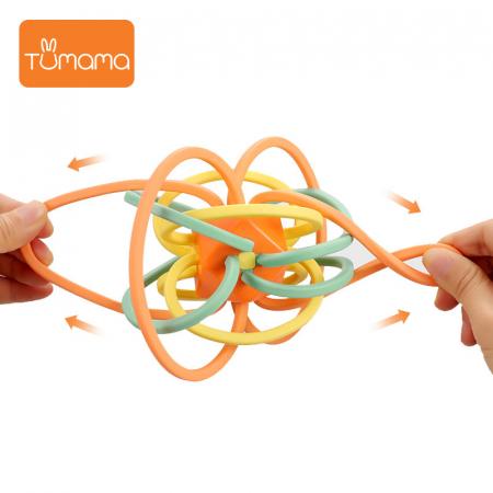 Jucarie Interactiva Educationala Zornaitoare pentru bebelusi, Design Labirint din Silicon, varsta + 3 luni, Tumama®, multicolor [2]
