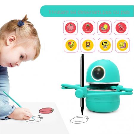 Jucarie Interactiva Electronica Robotelul Inteligent Quincy, SMARTIC®, verde2
