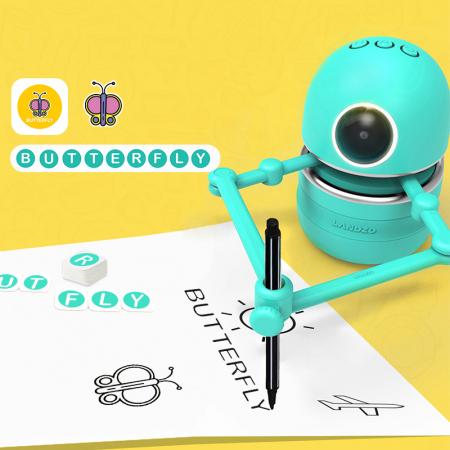 Jucarie Interactiva Electronica Robotelul Inteligent Quincy, SMARTIC®, verde4