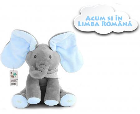 Jucarie interactiva Elefant Cucu Bau, Peek a Boo - canta si vorbeste in Limba ROMANA0