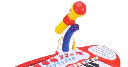 Jucarie orga cu karaoke, microfon si scaun incluse SMARTIC®1