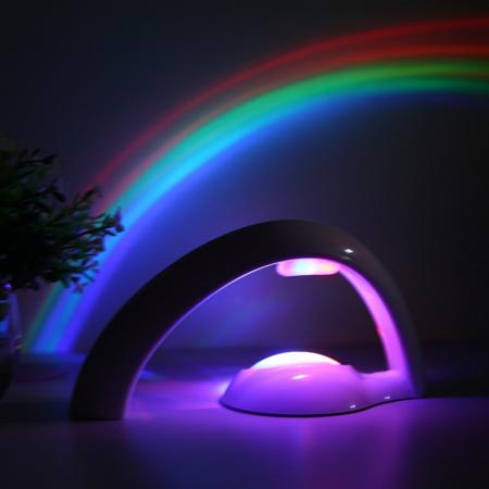 Lampa cu proiectie curcubeu, pentru copii, cu LED-uri multicolore, 2 moduri iluminare, Smartic® [2]