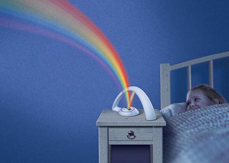 Lampa cu proiectie curcubeu, pentru copii, cu LED-uri multicolore, 2 moduri iluminare, Smartic® [8]