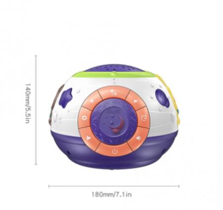 Lampa de veghe Minge Magica  Tumama® interactiva, cu proiector stelute, variatii de culori, sunete, 14x18 cm, multicolor7