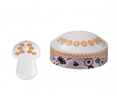 Lampa de veghe pentru copii si bebelusi, cu sunete si variatii de culori, control telecomanda, Tumama®, alb [0]