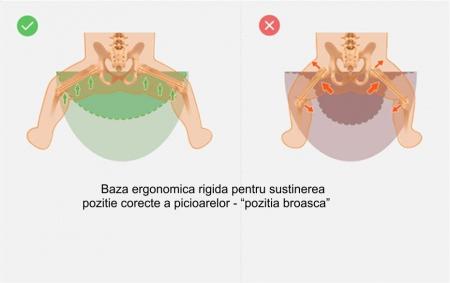 Marsupiu ergonomic 3 in 1 Tumama®,pentru bebelusi, din bumbac organic, 0 – 36 luni, cu scaunel detasabil, roz2