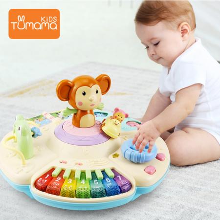 Masa muzicala educativa Maimutica vesela Tumama®, pentru copii de 0-3 ani2