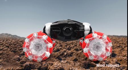 Masina cu telecomanda si control inductie Stunt Car, Lumini si Sunet, Cascadorii, Rotire 360ᵒ Frecventa 2.4Ghz, scara 1:16, Smartic®, rosu2