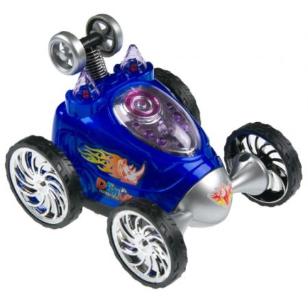Masina pentru copii cu telecomanda, rotatie 360ᵒ, 6 roti, Smartic, 12x10x9 cm, albastru0