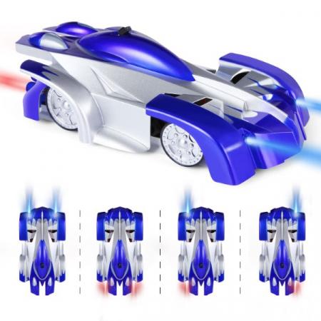 Masinuta Magic Car, Smartic, urca pe tavan, perete, fereastra si podea, +3 ani, albastru2