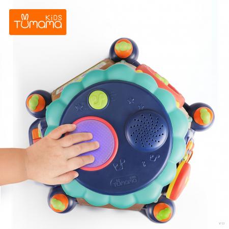 Masuta multiple activitati Tumama®, educationala, 6 laturi interactive de joc, margini rotunjite, sunete si lumini, lampa veghe, multicolor [2]