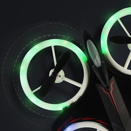 Mini drona cu semnale luminoase LED, Functii 3D , Mentinerea altitudinii si telecomanda4