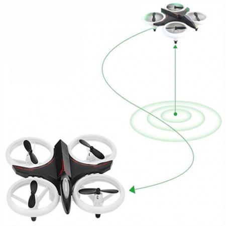 Mini drona cu semnale luminoase LED, Functii 3D , Mentinerea altitudinii si telecomanda1