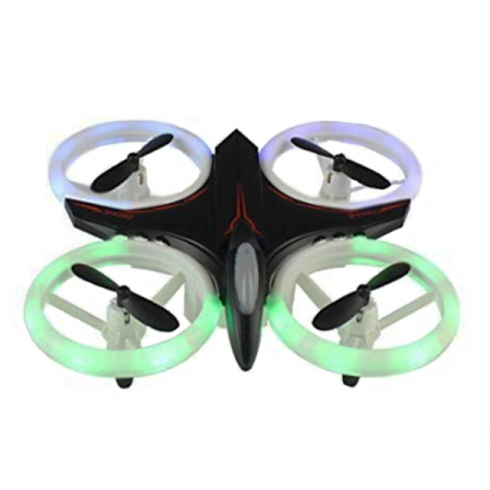 Mini drona cu semnale luminoase LED, Functii 3D , Mentinerea altitudinii si telecomanda0