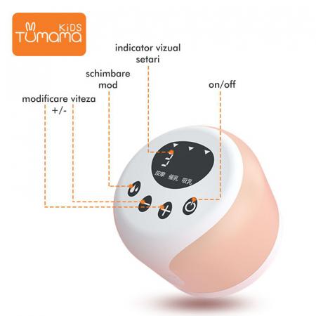 Pompa de san electrica Tumama®, 180ml, incarcare prin USB [4]