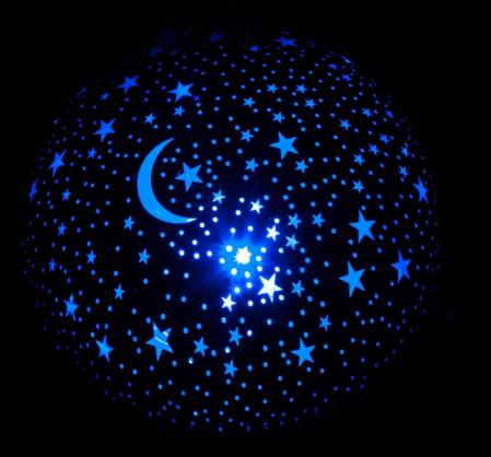 Proiector LED lampa veghe pentru camera cu stelute albastre, SMARTIC®2