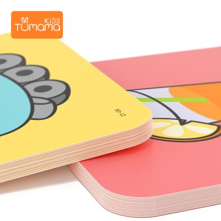 Puzzle Educational 2 in 1 Tumama® pentru bebelusi si copii, Material Carton, cu Animale si Masini, Varsta 0-3 ani,  40 piese, multicolor [2]