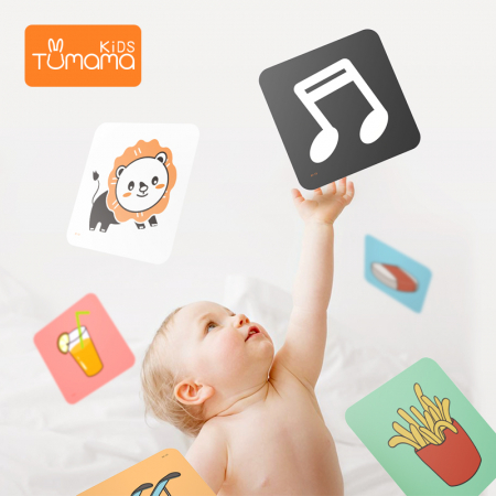 Puzzle Educational 2 in 1 Tumama® pentru bebelusi si copii, Material Carton, cu Animale si Masini, Varsta 0-3 ani,  40 piese, multicolor [9]