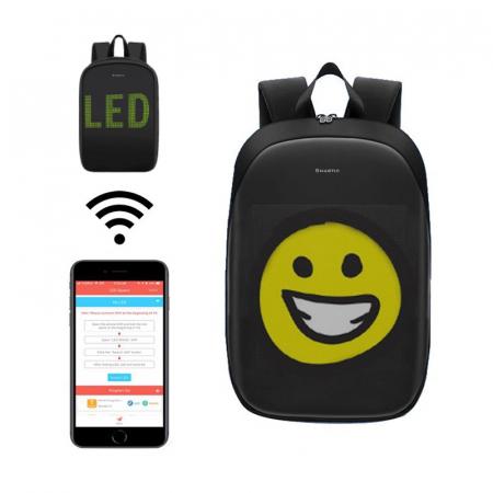 Rucsac Smartic cu ecran LED, negru1