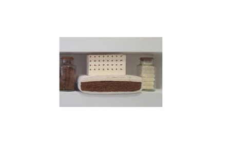 Saltea pentru bebelusi Editia Lux cu Fibra Cocos si Latex 120x60x11 cm, Husa Bumbac, Lavabila, Antialergica, Alb [7]