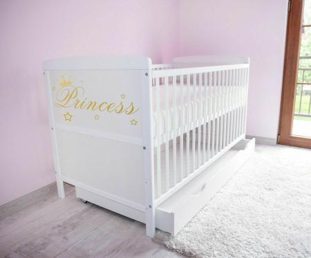 Saltea pentru Bebelusi,  Fibra Cocos+Strat Bumbac 120x60x11 cm, Husa Bumbac Antialergica si Lavabila, cu 2 fete, Alb5