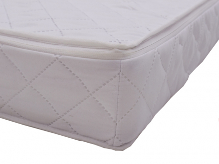 Saltea pentru Bebelusi Somn Usor, 105x70x8 cm, Fibra de Cocos, Husa Antialergica & Lavabila, Alb4